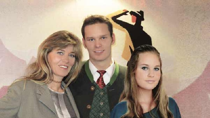 Evi, with daughter and son Sylvia & Armin